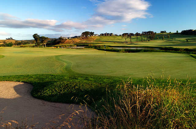 A view of a green from St John Course at Heritage Golf & Country Club