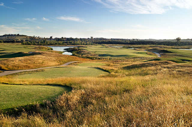 A view from a tee at Henley Course from Heritage Golf & Country Club