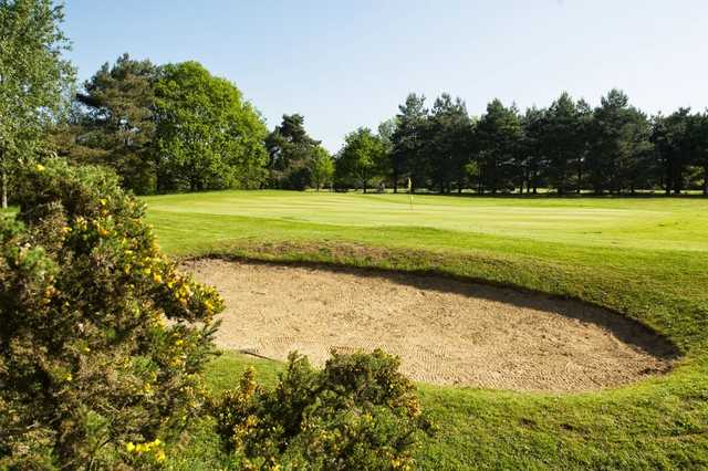 Bunkered green at Bungay & Waveney Golf Club