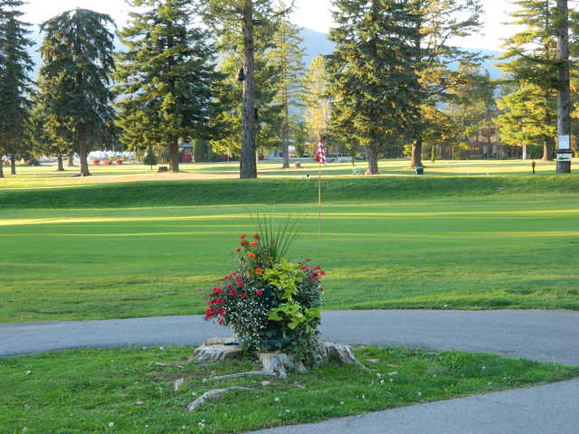 A view of the 8th green from The Elks Golf Course at Sandpoint