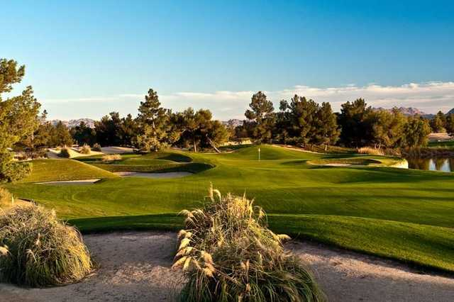 View of a green at Desert Pines Golf Club