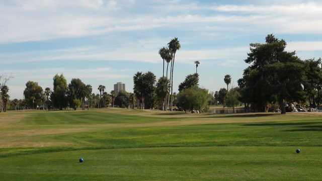 A view from the blue tees at Encanto Golf Course