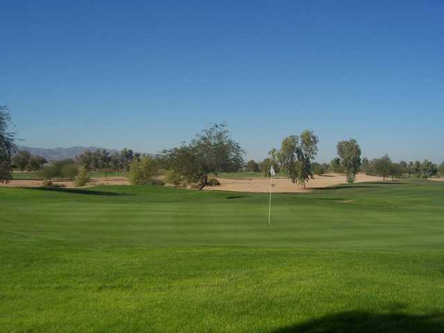 View of a green at Falcon Golf Club