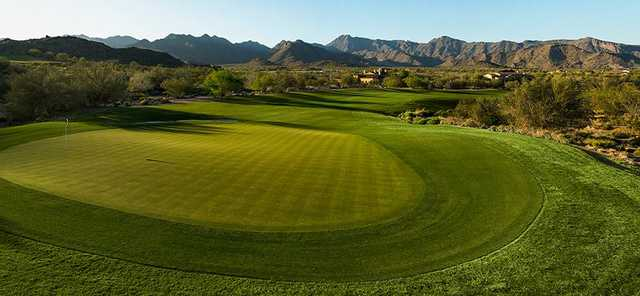 Looking back from a green at Founder's Course from Verrado Golf Club.