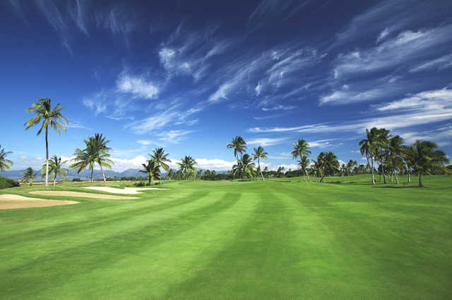 View from the 6th fairway from the A course at Hawaii Prince Golf Club