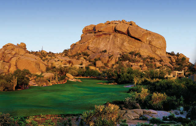 A view of green #5 at South from Boulders Golf Club & Resort.