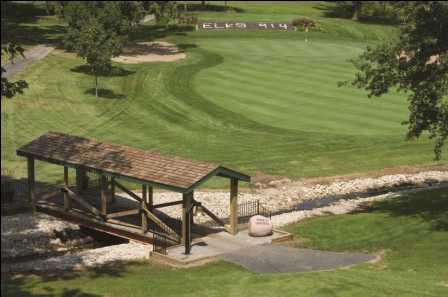 A view of a bridge at Lincoln Elks Golf Club