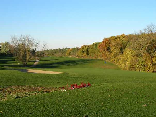 A view of green #17 at Silver Ridge Golf Club