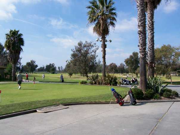 A green view from David L. Baker Golf Course.