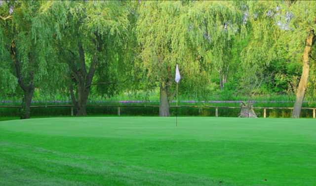 View of the 1st green at Cedarhurst Golf Club