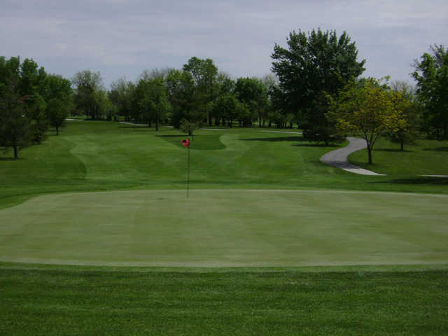 A view of a green at Wolf Creek Golf Club