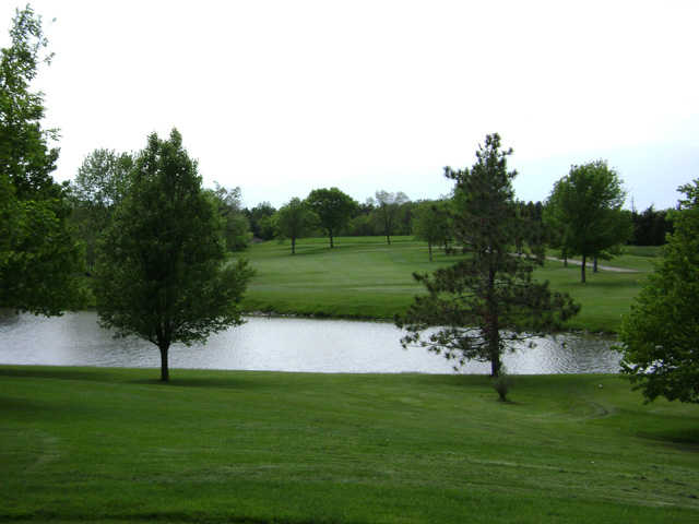 A view over the water from Wolf Creek Golf Club