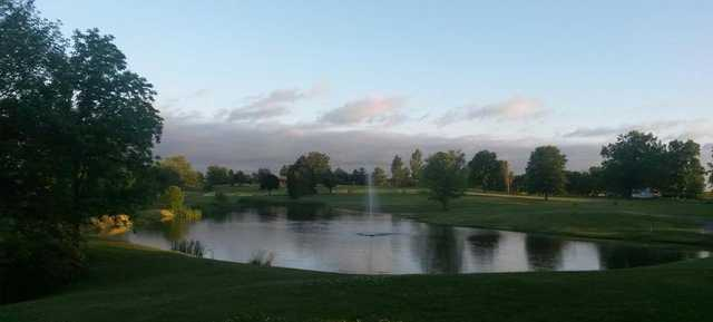 View of the lake at The Waldo Golf Course