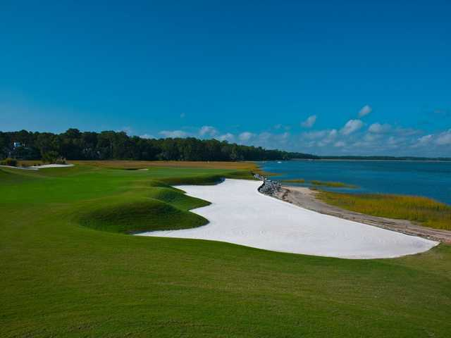 A view of hole #17 at Nicklaus from Colleton River Club.