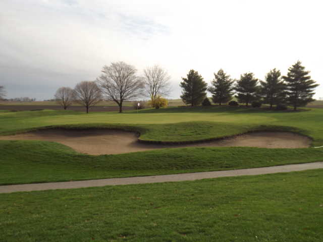 A  view of a green at Brookhill Golf Course
