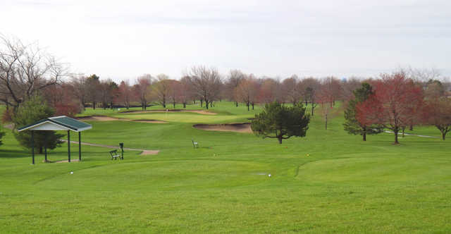 A view of a tee at Brookhill Golf Course.