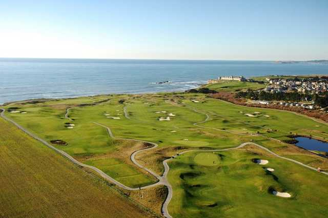 Aerial view from Ocean Course at Half Moon Bay Golf Links