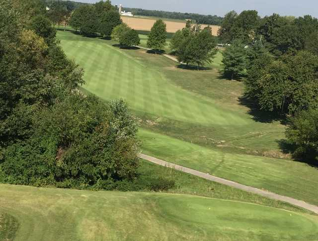 A view from a tee at Roland Barkau Memorial Golf Course