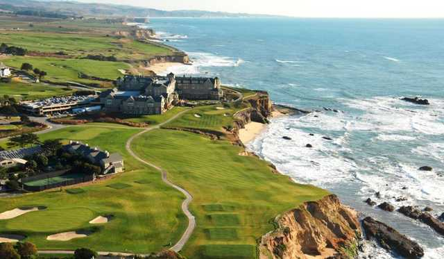 Aerial view from Half Moon Bay Golf Links