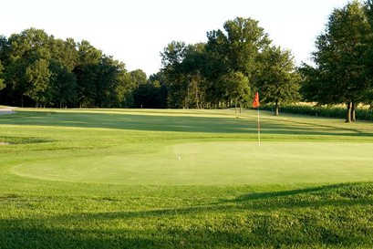A view of a hole at Roland Barkau Memorial Golf Course