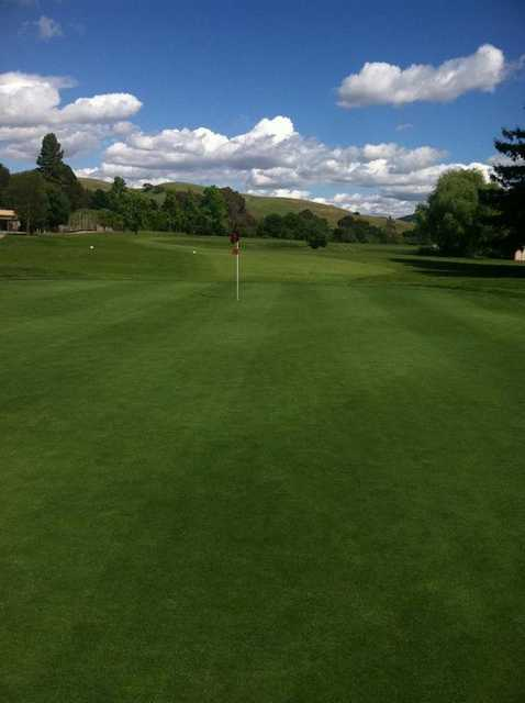 A view of green #9 at Franklin Canyon Golf Course