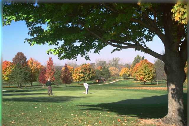 A fall day view from Walnut Creek at Walnut Creek Golf Course