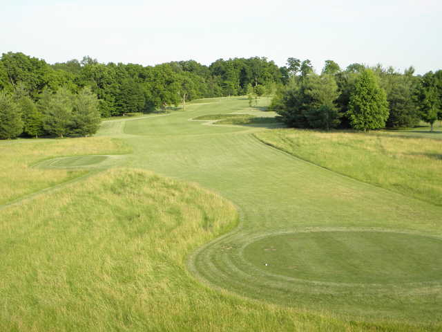 A view from a tee at Club Run from Walnut Creek Golf Course