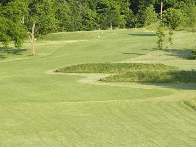 A view of a hole at Club Run from Walnut Creek Golf Course