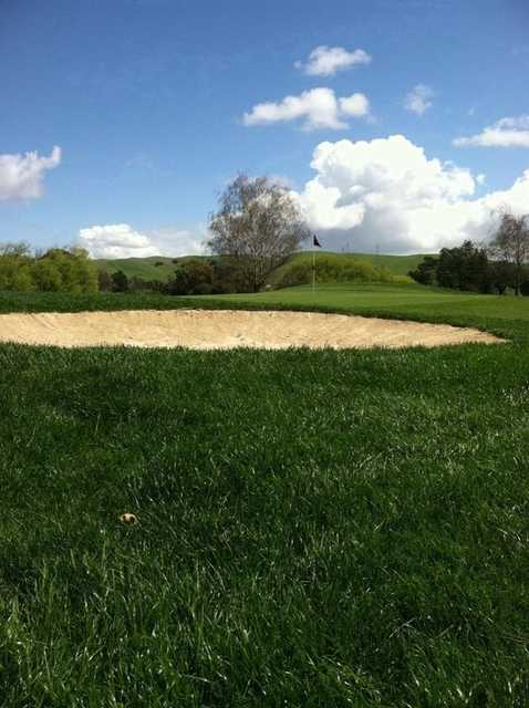 A view of the new bunker on #4 at Franklin Canyon Golf Course