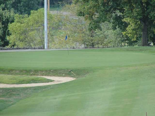 A view of hole #16 at Otis Park Golf Course
