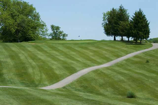 A view of the 3rd green at Otis Park Golf Course