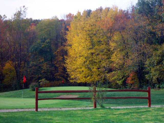 A fall day view from Hoosier Hills Golf Course