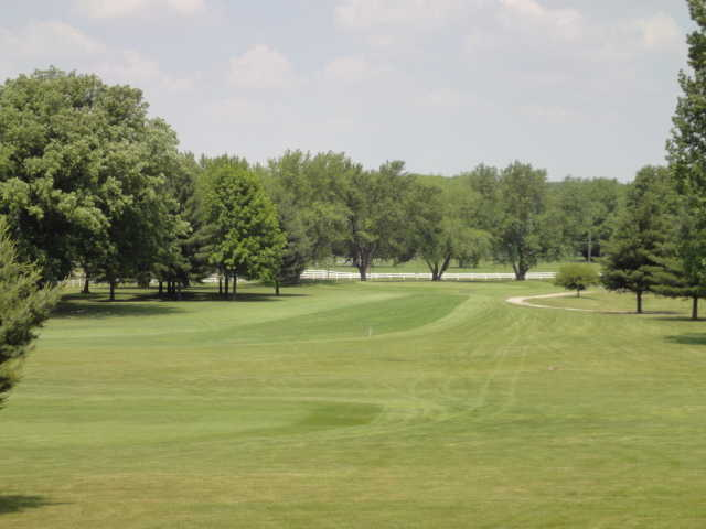 A view of the 18th hole at Crawfordsville Country Club