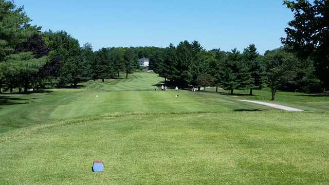 A view from the 18th tee at Bloomington Country Club