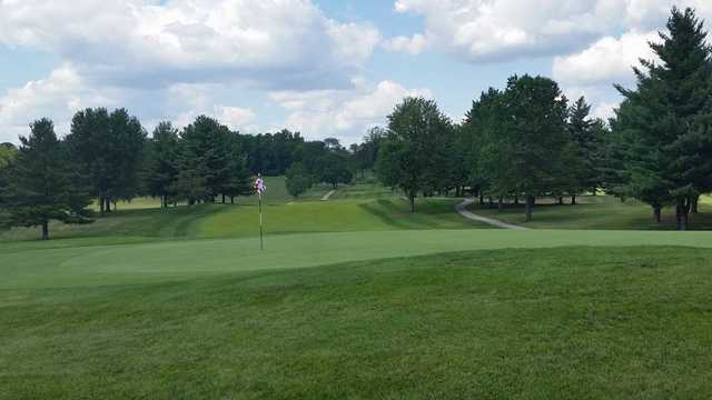 A view of a green at Bloomington Country Club