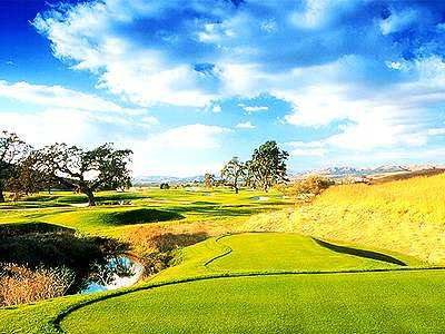 A view of the 6th hole at San Juan Oaks Golf Club