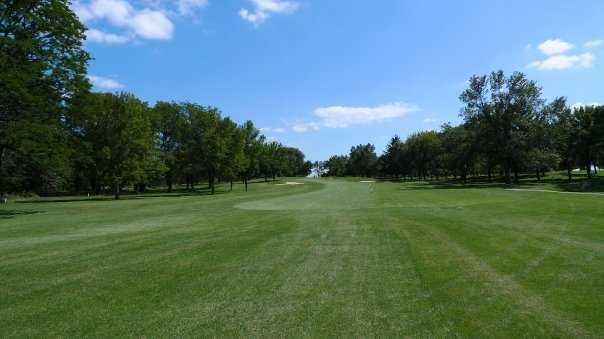 A view of a fairway at Brookwood Golf Club