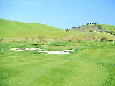 A view of green #10 at San Juan Oaks Golf Club