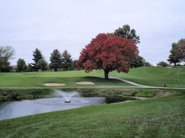A view of a green at Maplecrest Country Club.