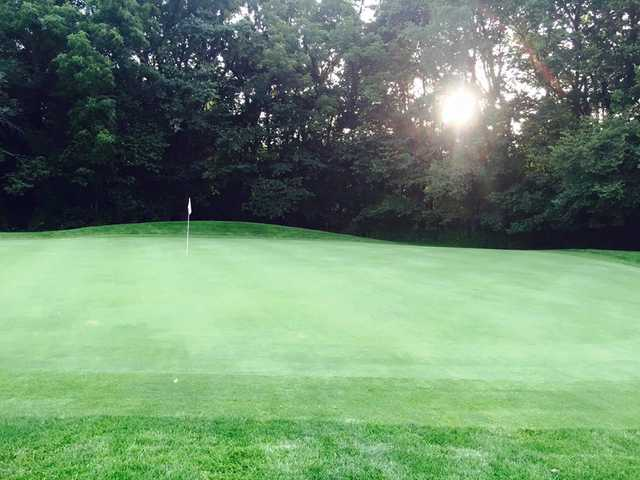 A view of a hole at Green Acres Golf Club