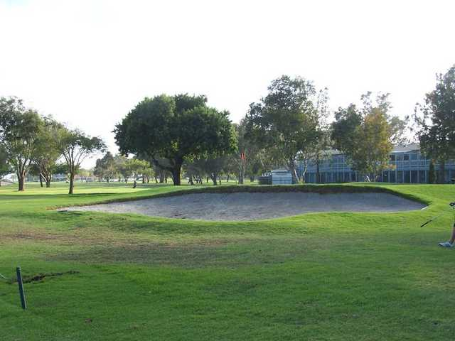 A view of a bunker at Meadowlark Golf Course.