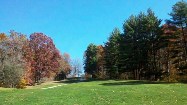 A sunny day view from Pine Woods Golf Course