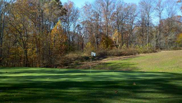 A view of hole #3 at Pine Woods Golf Course