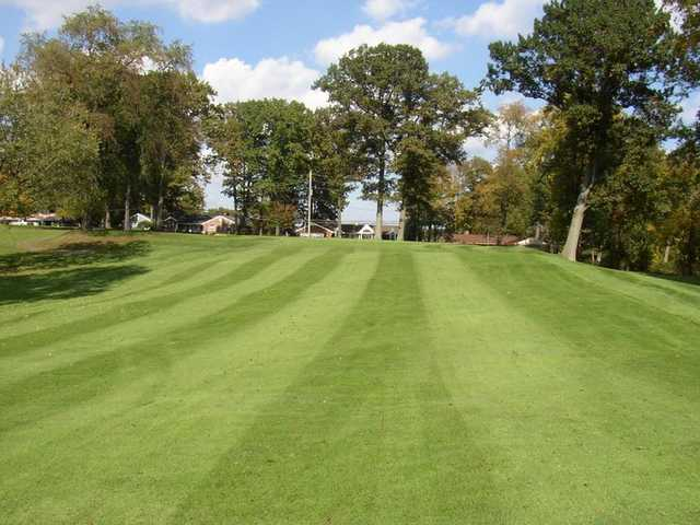 A view of a fairway at The Fairways at Twin Lakes