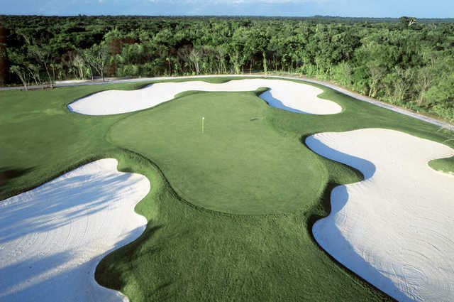 View of the 7th green from The Nicklaus Par Three Experience at Vidanta Riviera Maya