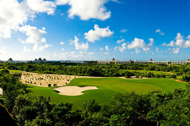 View of the 2nd green from The Nicklaus Par Three Experience at Vidanta Riviera Maya