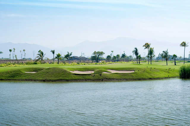 View of a bunkered green from The Nicklaus Design Course at Vidanta Nuevo Vallarta