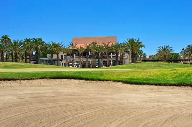 View of a green and bunker from the Vidanta Golf Los Cabos