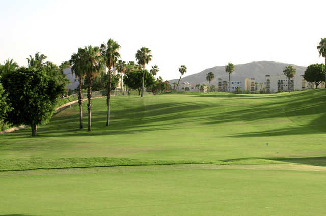 Looking back from a green at Vidanta Golf Los Cabos