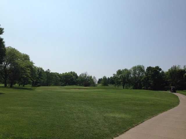 A view of green #4 at Finkbine Golf Course